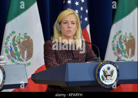 Washington DC, USA. 14th Dec, 2017. U.S. Homeland Security Secretary Kirstjen Nielsen delivers remarks at the Second - Stock Photo