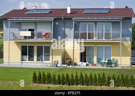 Doppelhaeuser - semi-detached house - Stock Photo
