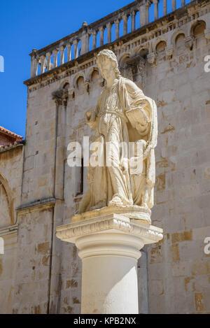 Statue, Trogir Old Town, Croatia - Stock Photo
