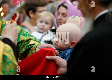 Belarus, Gomel city, St. Nicholas Monastery, a religious Orthodox holiday 'Palm Sunday' 19.06.2016 year. Unknown - Stock Photo