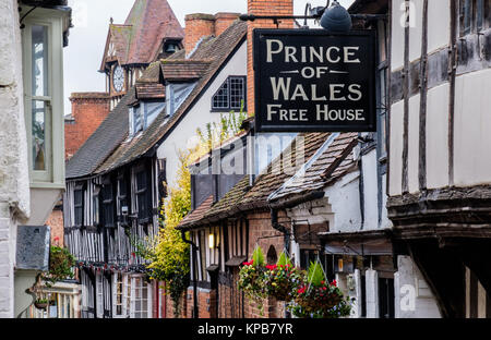 The Upper Storeys of Church Street, Ledbury, Herefordshire, UK - Stock Photo