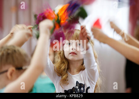 Belarus. City Gomel.28.02.2017. Kindergarten, a public holiday dedicated to women's day. - Stock Photo