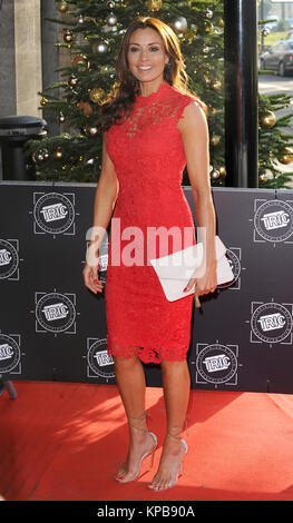 Melanie Sykes attends the TRIC Awards Christmas Lunch at Grosvenor House in London.  12th December 2017      © Paul - Stock Photo