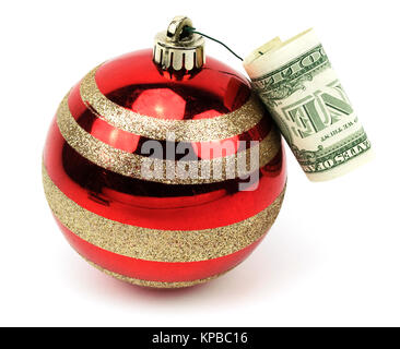Isolated Ornament With One Dollar. - Stock Photo