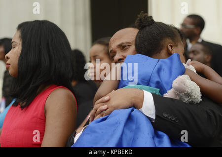 Martin Luther King III, wife and daughter at the National ...