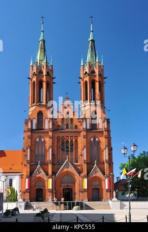 Bialystok - the largest city in northeastern Poland and the capital of the Podlaskie Voivodeship. Cathedral Basilica of the Assumption of the Blessed  Stock Photo