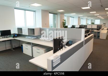 Open concept office interior. - Stock Photo