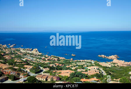 Holiday complex at Costa Paradiso, Sardinia, Italy, Mediterranean  sea, Europe - Stock Photo