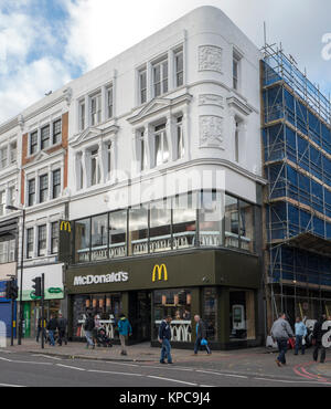 One of the first MacDonald restaurants opened in London in 1976 on Seven Sisters Road, in Holloway north London - Stock Photo