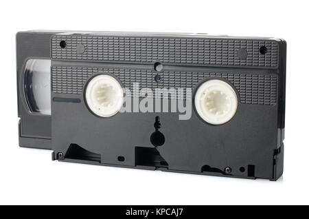 Old VHS Video tapes - Stock Photo