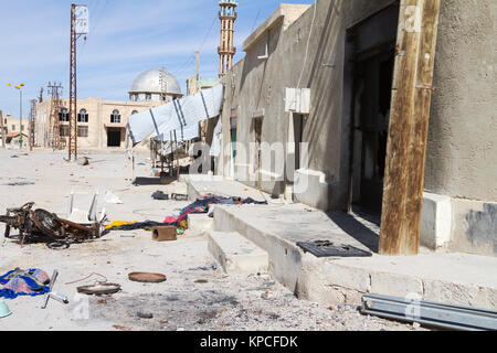 Devastated Mahin in central Syria - Stock Photo