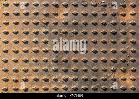 Close-up background manhole - Stock Photo