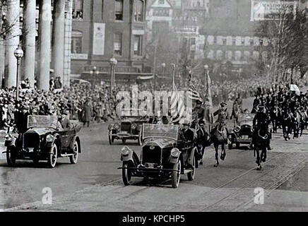 President Coolidge returning from the Capitol, 1925 - Stock Photo