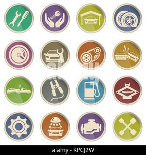 Auto Service Icons - Stock Photo