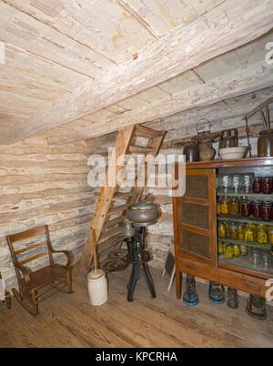 Texas, Stonewall, LBJ State Park and Historic Site, Sauer-Beckmann, Living History Farm, circa 1915-1918, farmhouse - Stock Photo