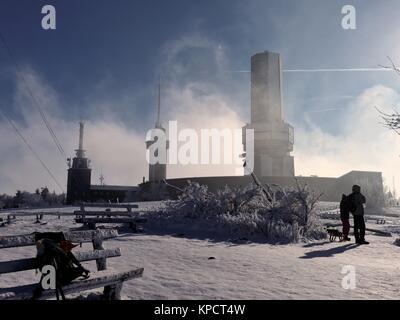 feldberg in winter - Stock Photo