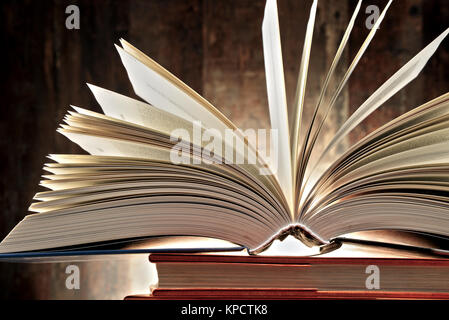 Composition with hardcover books - Stock Photo