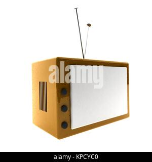 Old tv 3d - Stock Photo