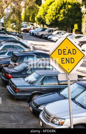 San Francisco, USA - September 26, 2013 - A Dead End signal in a San Francisco street. - Stock Photo