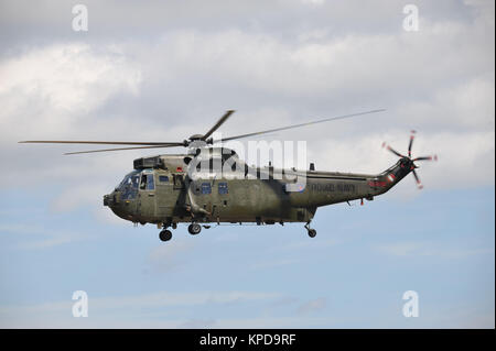 Royal Navy Westland Sea king HC4 helicopter at RNAS Yeovilton - Stock Photo