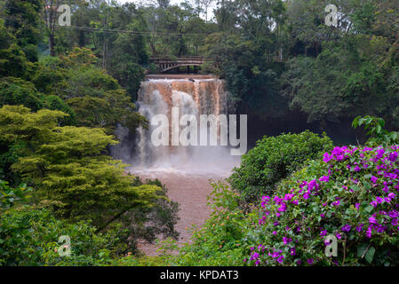 Kenya is a prime tourist destination in East Africa. Famous for wildlife and natural beauty. Chania Falls near Thika. - Stock Photo