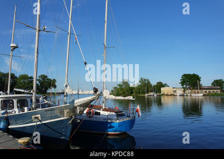 the west pomeranian sailing route,trzebiez - Stock Photo