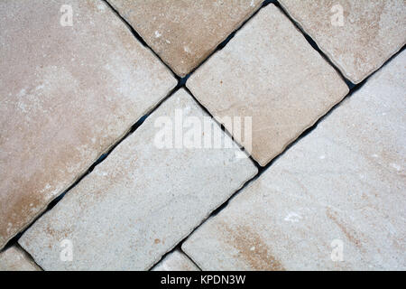 Background of granite paving stones stacked, paver and cube. - Stock Photo