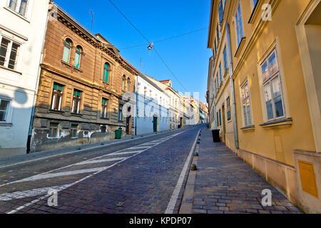 Old Mesnicka street in Zagreb upper town - Stock Photo