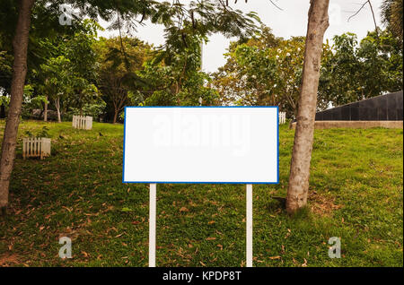 Blank advertising billboard isolated - Stock Photo