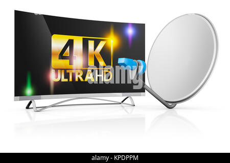 TV and a satellite dish - Stock Photo