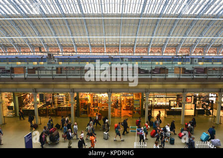 St Pancras Station, London. - Stock Photo
