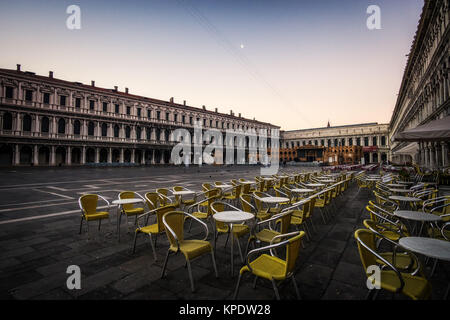Saint Mark Square in the morning - Stock Photo