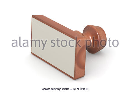 Blank wooden stamp - Stock Photo