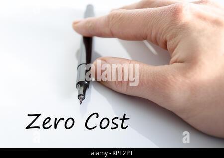 Zero cost text concept - Stock Photo