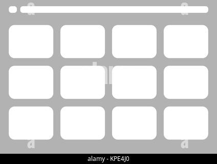 Traditional Television 4 Frame Storyboard Template Stock Photo