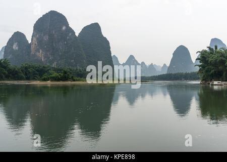 xingping morning reflection - Stock Photo