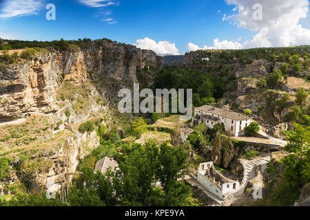 Canyon at Alhama de Granada, Andalusia, Spain - Stock Photo