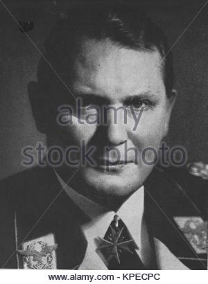 Hermann Wilhelm Göring (or Goering; 1893 – 1946) German political and military leader as well as one of the most - Stock Photo