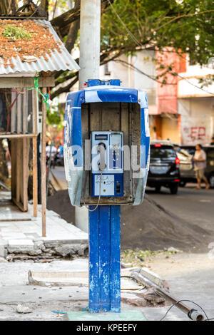 phone booth in Kota manado City - Stock Photo