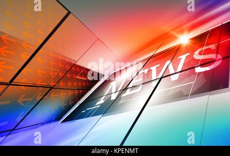 Graphical modern digital world news background - Stock Photo