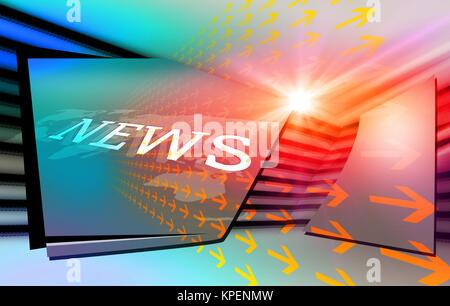 Graphical modern digital world news background3 - Stock Photo