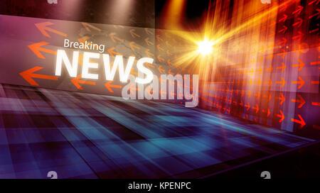 Graphical modern digital world news background II - Stock Photo