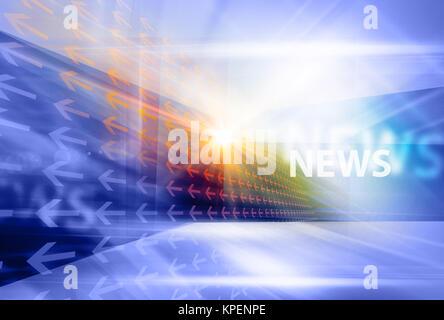 Graphical modern digital world news background VI - Stock Photo