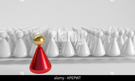 3d Team leader - Stock Photo