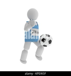 Soccer player, 3d - Stock Photo