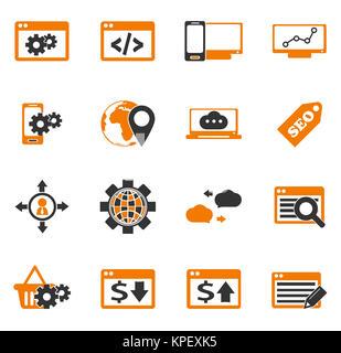 SEO and Development icons set - Stock Photo