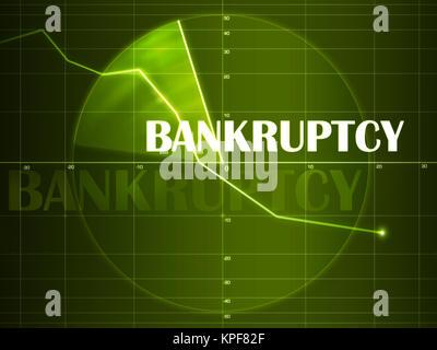 Business artwork - Bankruptcy. Financial Concept. 2D Design. - Stock Photo