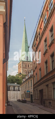 August, 1, 2014 - Riga, Latvia: Cathedral of St. Jacob in Riga, center of old city - Stock Photo