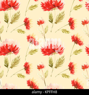 Cute Floral pattern in the aster flower. Motifs scattered random. Seamless texture. Elegant template for fashion - Stock Photo