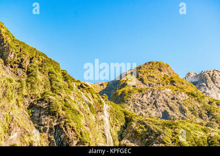 Patagonia landscape scene at queulat national park, aysen, chile - Stock Photo